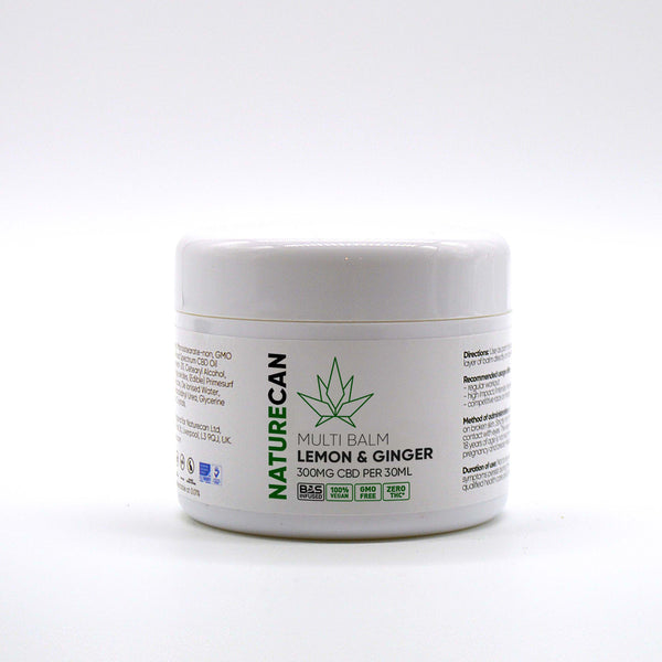 NATURECAN 300mg CBD - LEMON AND GINGER BALM 30ml