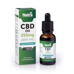NATRA CBD - 250mg CBD OIL - PEPPERMINT 30ml BOTTLE