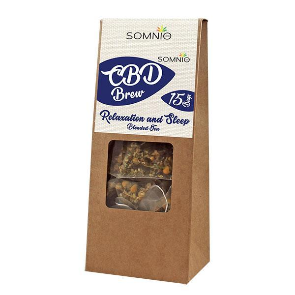SOMNIO CBD BREW TEA BAGS - RELAXATION AND SLEEP - 45mg (15 X 3mg BAGS)