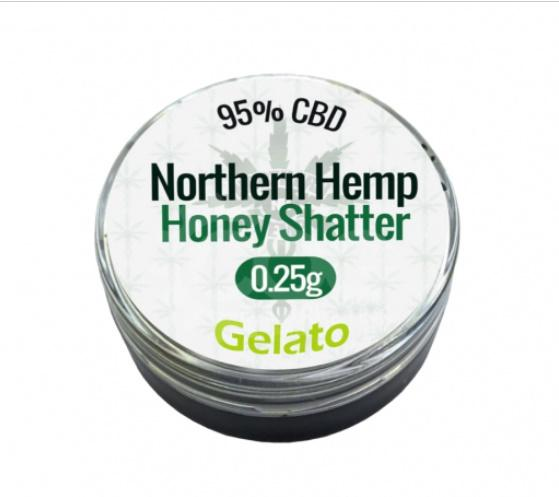 CBD - NORTHERN HEMP HONEY SHATTER  - GELATO