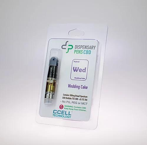 DISPENSARY PENS - WEDDING CAKE - 450mg CBD CARTRIDGE