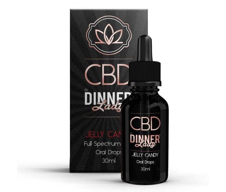 DINNER LADY 30ml JELLY CANDY CBD OIL ORAL DROPS