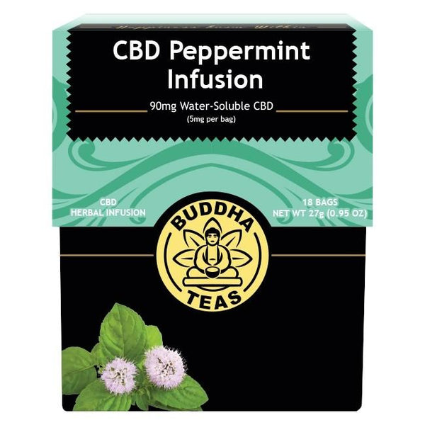 BUDDHA TEAS - CBD PEPPERMINT INFUSION 90mg (5mg PER BAG)