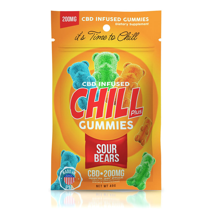 CHILL PLUS CBD GUMMIES - SOUR GUMMY BEARS 200mg