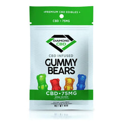 DIAMOND CBD - GUMMY BEARS 75mg FULL SPECTRUM CBD