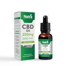 NATRA CBD - 250mg CBD OIL - CITRUS 30ml BOTTLE