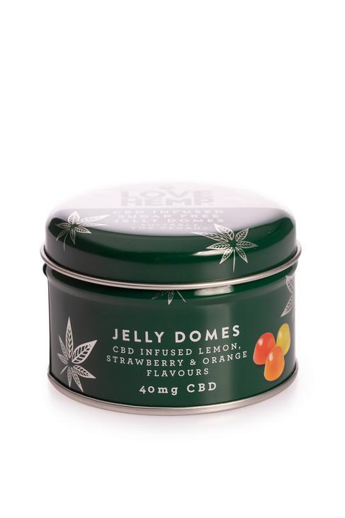 LOVE HEMP SUGAR FREE CBD JELLY DOMES 40mg - VEGAN