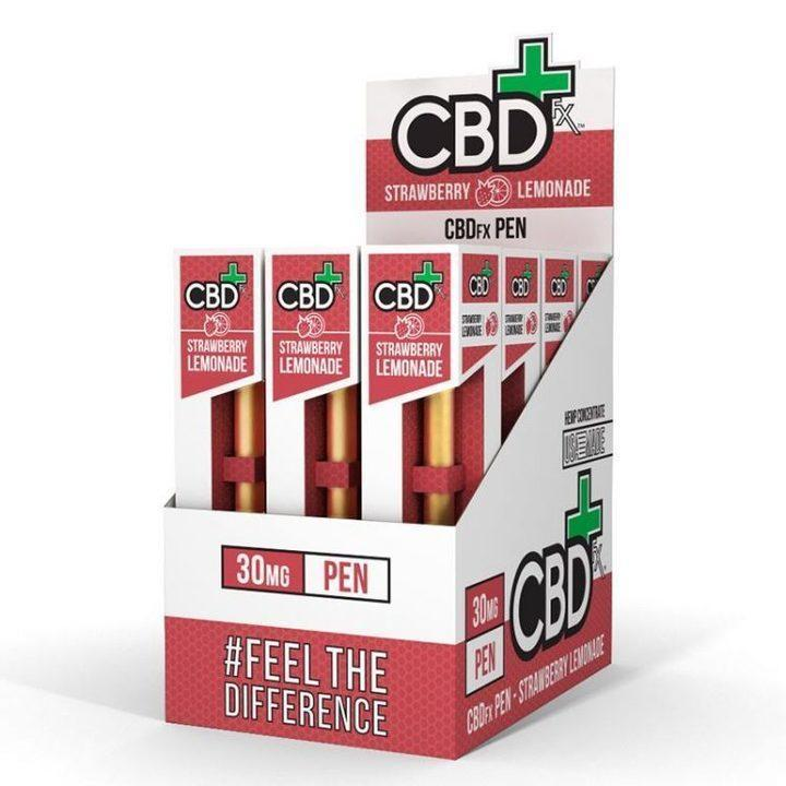 CBDFX - 30mg DISPOSABLE CBD PEN - STRAWBERRY LEMONADE