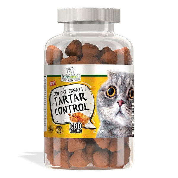 MEDIPETS CBD CAT TREATS - TARTAR CONTROL - 100mg