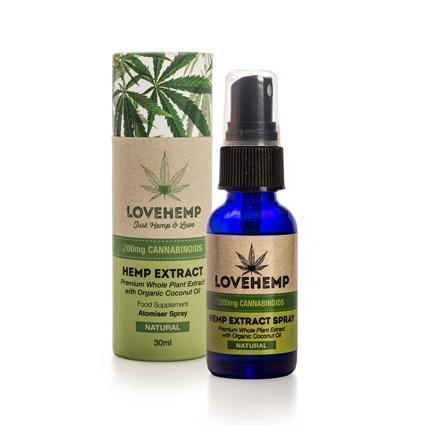 LOVE HEMP 200mg CBD OIL SPRAY - 30ml