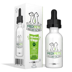MEDIPETS 50mg CBD OIL FOR MEDIUM DOGS - 30ml BOTTLE