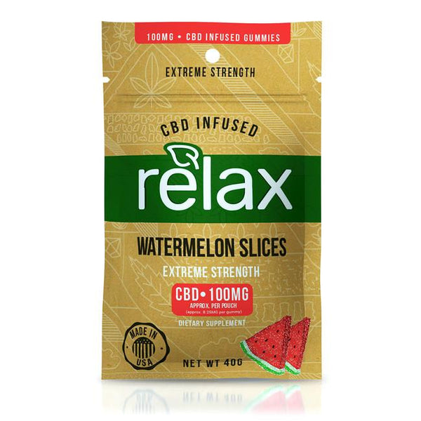 RELAX CBD GUMMIES - WATERMELON SLICES - 100mg CBD