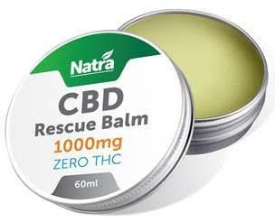 NATRA CBD - 1000mg RESCUE BALM - 60ml JAR