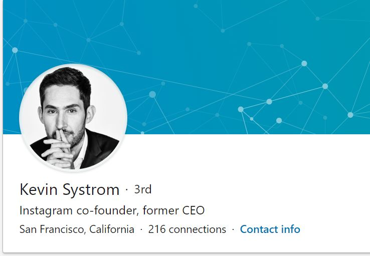 Black and White LinkedIn Profile Picture Example