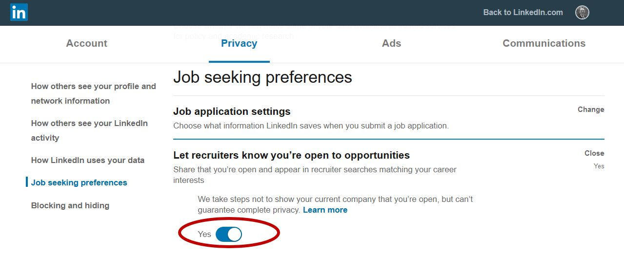 LinkedIn-Privacy-Settings