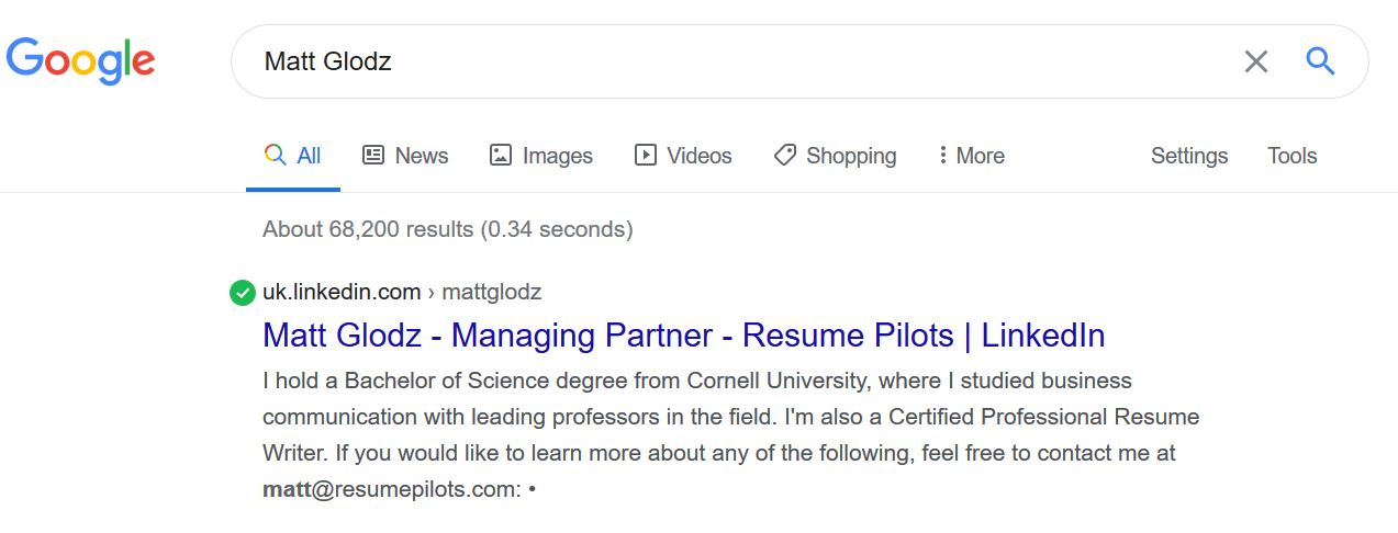 Remove LinkedIn Profile from Google Search Results