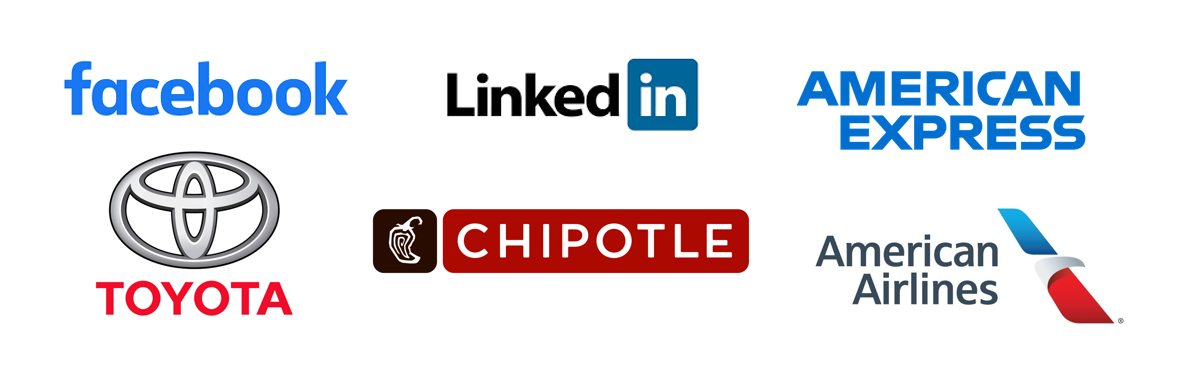 Company Logos with Sans Serif Fonts