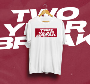 Two Year Break 'New' Logo T-Shirt (White/Red) [CROWDFUNDING ITEM]