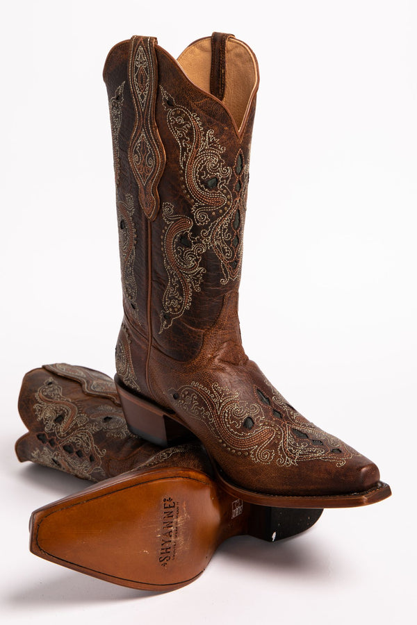 d32cbdac8c1d Shyanne Women s Isabelle Inlay Stud Western Boots - Snip Toe ...