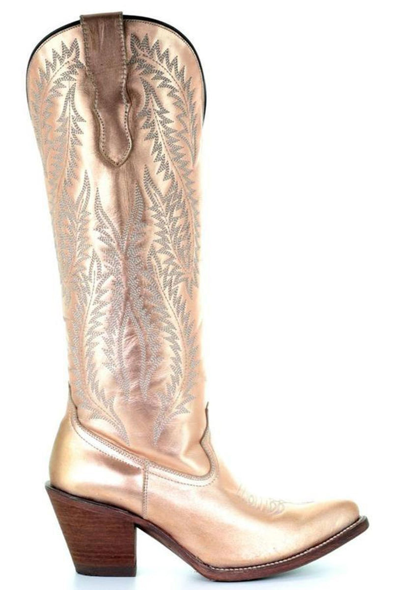 Corral Women S Gold Embroidery Tall Top Cowgirl Boots