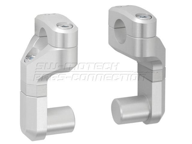 SW-Motech Barback Riser 40-50mm for 22mm handlebars. Silver. LEH.00.039.170/SSW-Motech Barback Coverter Up 40-50mm for 22mm handlebars. Silver. LEH.00.039.170/S