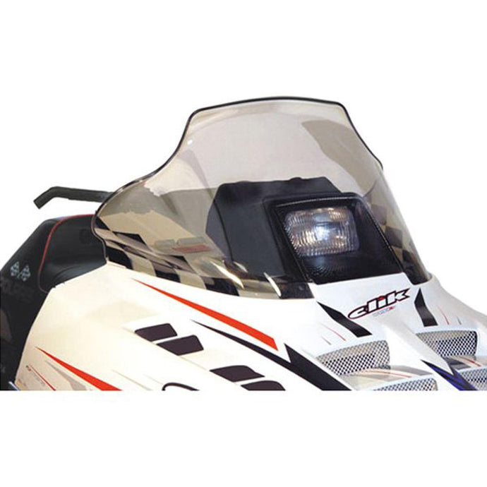 PowerMadd 11130 Flared Windshield  Polaris mid Smoke Black Check