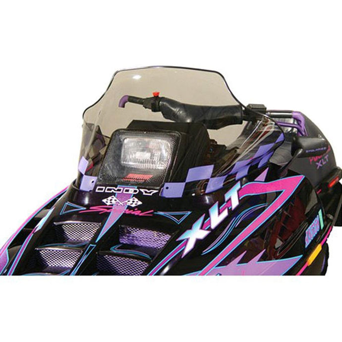 PowerMadd 11131 Flared Windshield  Polaris mid Smoke Pur Chec