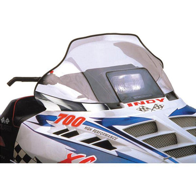 PowerMadd 11132 Flared Windshield -Polaris mid-clr/bk-wh Fl
