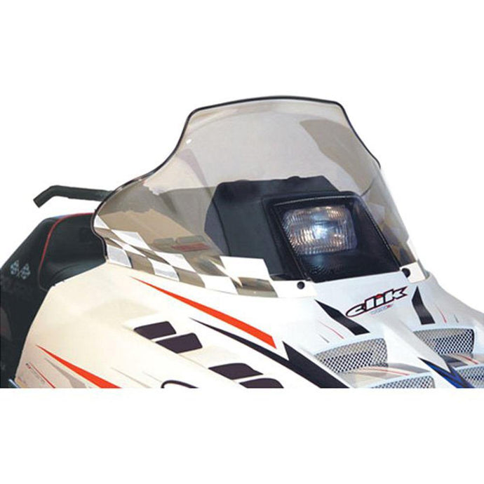 PowerMadd 11133 Cobra Windshield Polaris Std Chassis Tinted W/white Flags