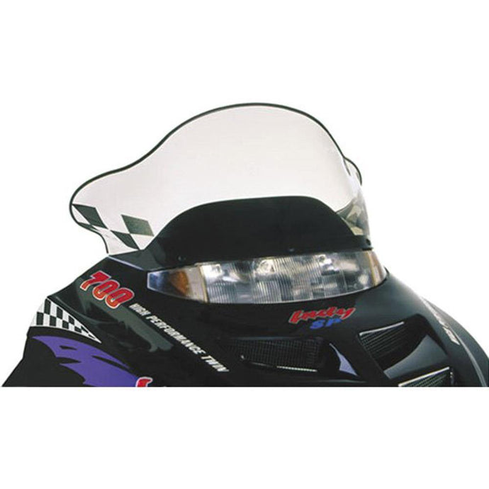 PowerMadd 11230 Flared Windshield  Polaris Ii-Smoke Mid/Black Fl