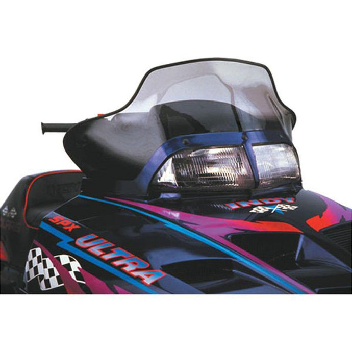 PowerMadd 11430 Flared Windshield -Polaris mid Smoke Black Check