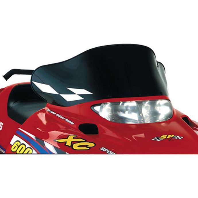 PowerMadd 11520 Cobra Windshield Polaris Low/black W/ White Checks