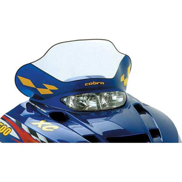 PowerMadd 11530 Windshield Cobra Polaris Edge Mid Clear W/blue/yellow