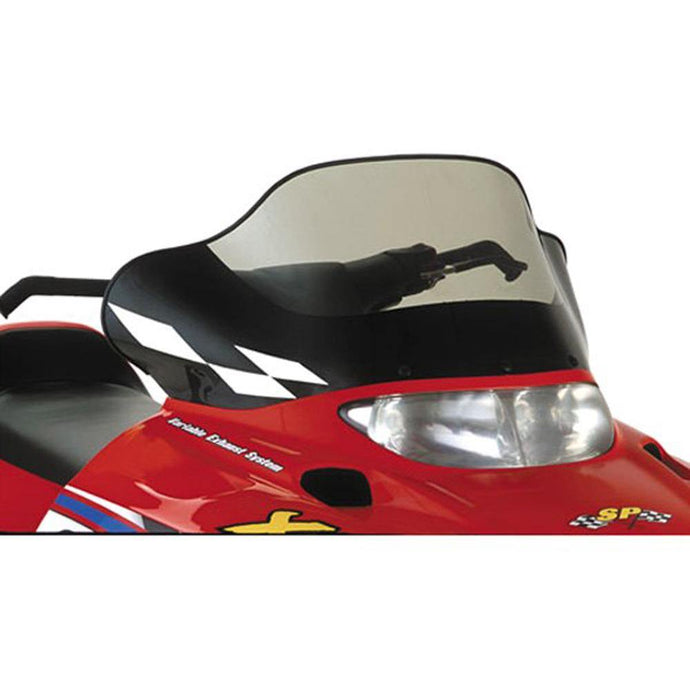 PowerMadd 11533 Cobra Windshield Polaris Mid/tinted W/black Graphics