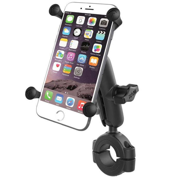 "RAM Mount Larger Torque 1.125"" – 1.5"", Medium Arm and Large X-Grip® for Larger Phones"