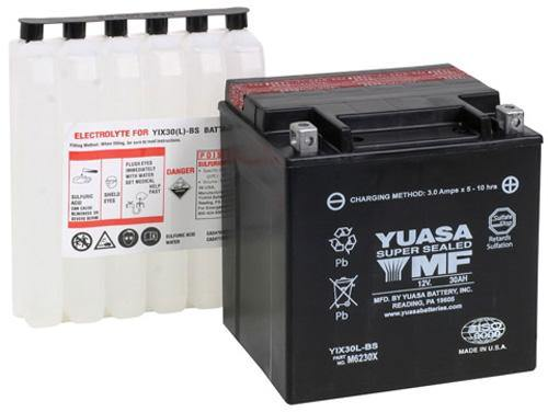 Yuasa YIX30L-BS-PW High Performance AGM Maintence Free YUAM6230XPW