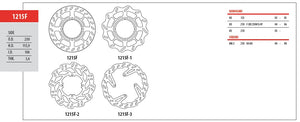Front Brake Disc GOLDfren 1215F2