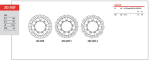 Front Brake Disc GOLDfren 202-502F