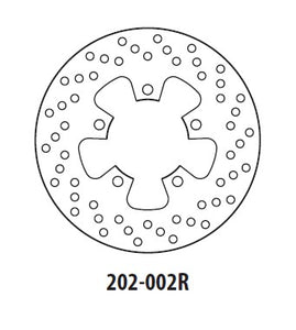 Rear Brake Disc GOLDfren 202-002R