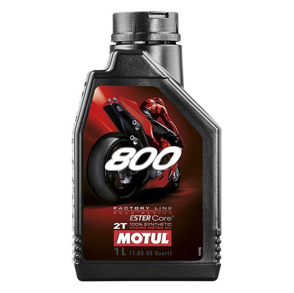Motul 800 Factory Line 100% Synthetic Oil Road Racing 2T 1 Liter