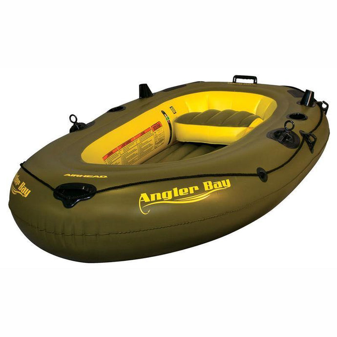 Airhead Angler Bay Inflatable Boat. Sizes for 3, 4, and 6 Person