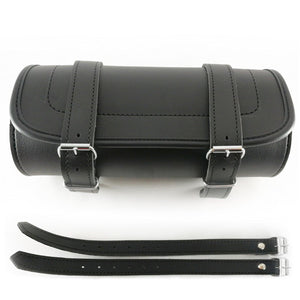 Genuine Leather Motorcycle Fork Roll Tool Bag