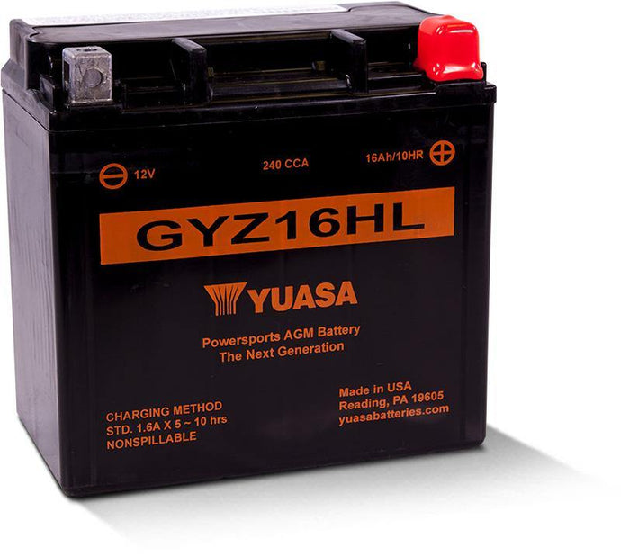 Yuasa GYZ16HL Factory Activated Maintenance Free YUAM716GHL