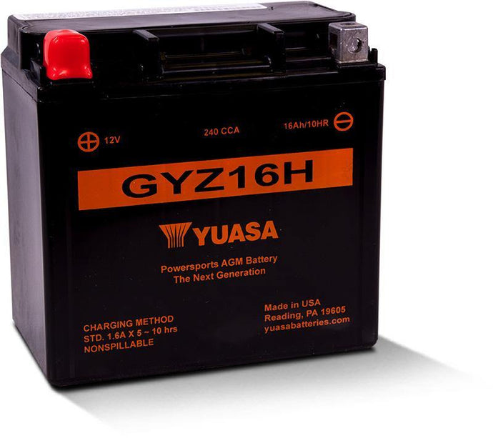 Yuasa GYZ16H Factory Activated Maintenance Free YUAM716GH