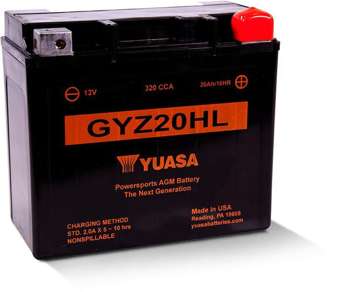 Yuasa GYZ20HL Factory Activated Battery YUAM720GH