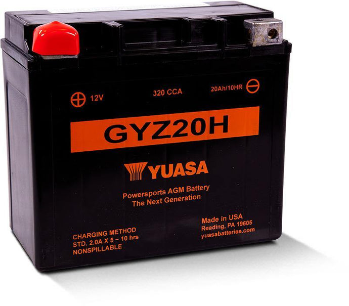 Yuasa GYZ20H Factory Activated Maintenance Free YUAM72RGH