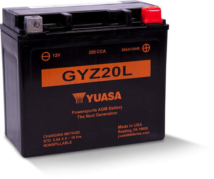 Yuasa GYZ20L Factory Activated Maintenance Free YUAM720GZ