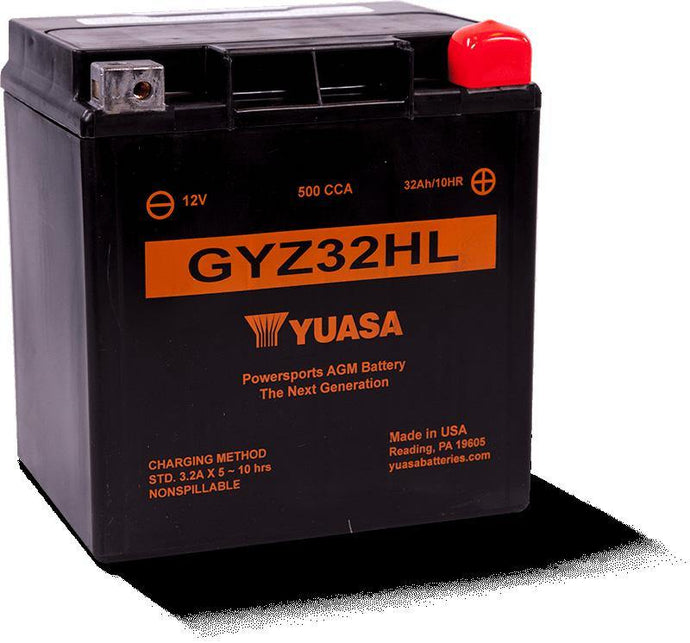 Yuasa GYZ32HL Factory Activated Maintenance Free YUAM732GHL