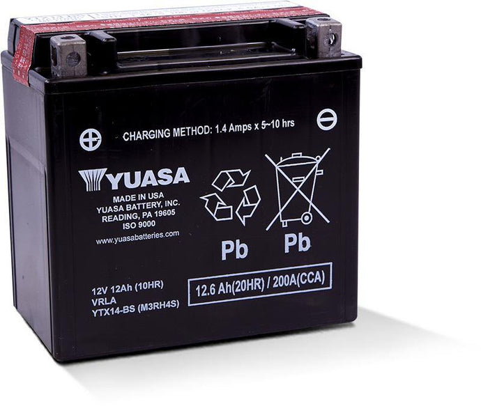 Yuasa YTX14-BS Maintenance Free 12V Battery YUAM3RH4S