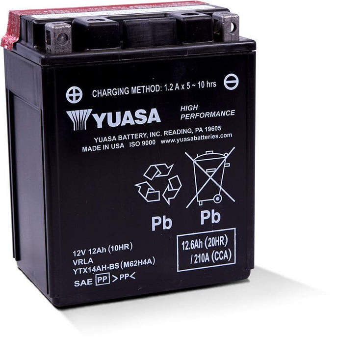 Yuasa YTX14AH-BS High Performance MF Battery YUAM62H4A